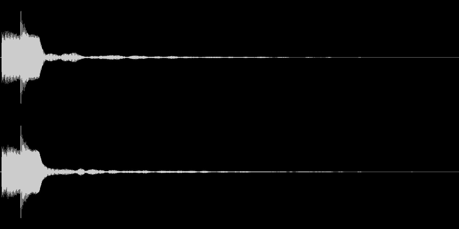 決定/ボタン押下音(柔らかめ)の未再生の波形