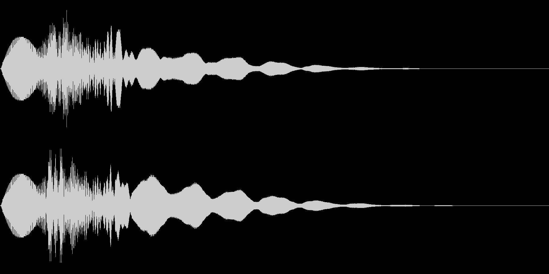 キュピーン!(輝き/閃き/きらめき)の未再生の波形