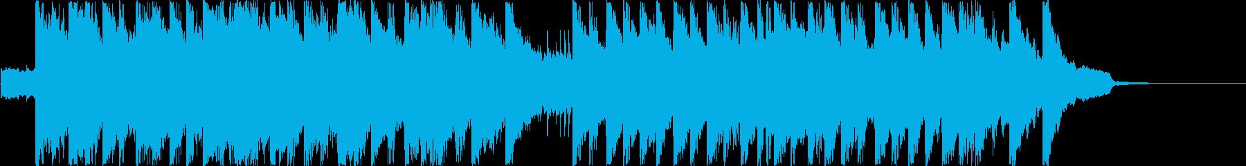 テンポの良いポップス シンセピアノの再生済みの波形