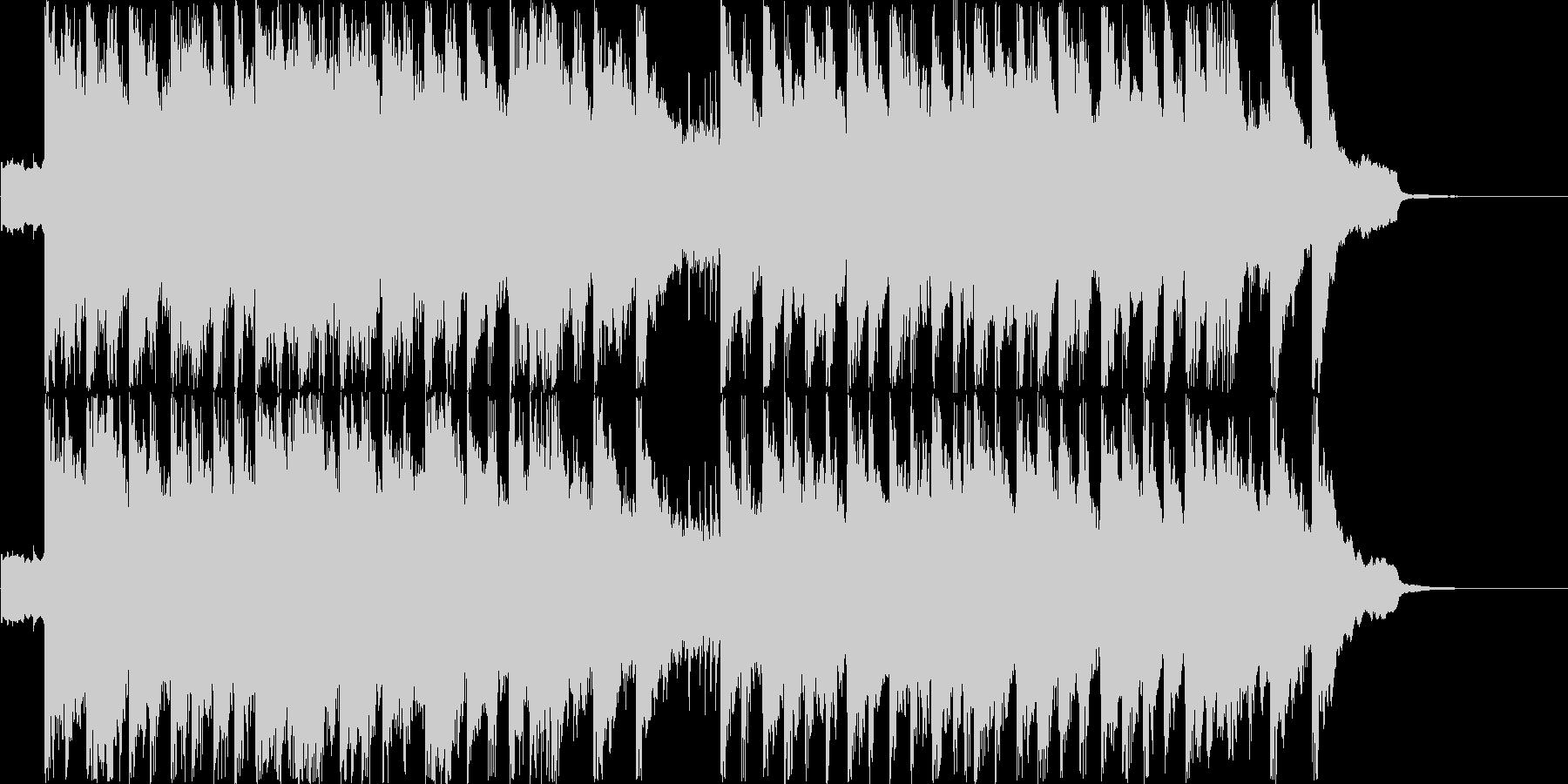 テンポの良いポップス シンセピアノの未再生の波形