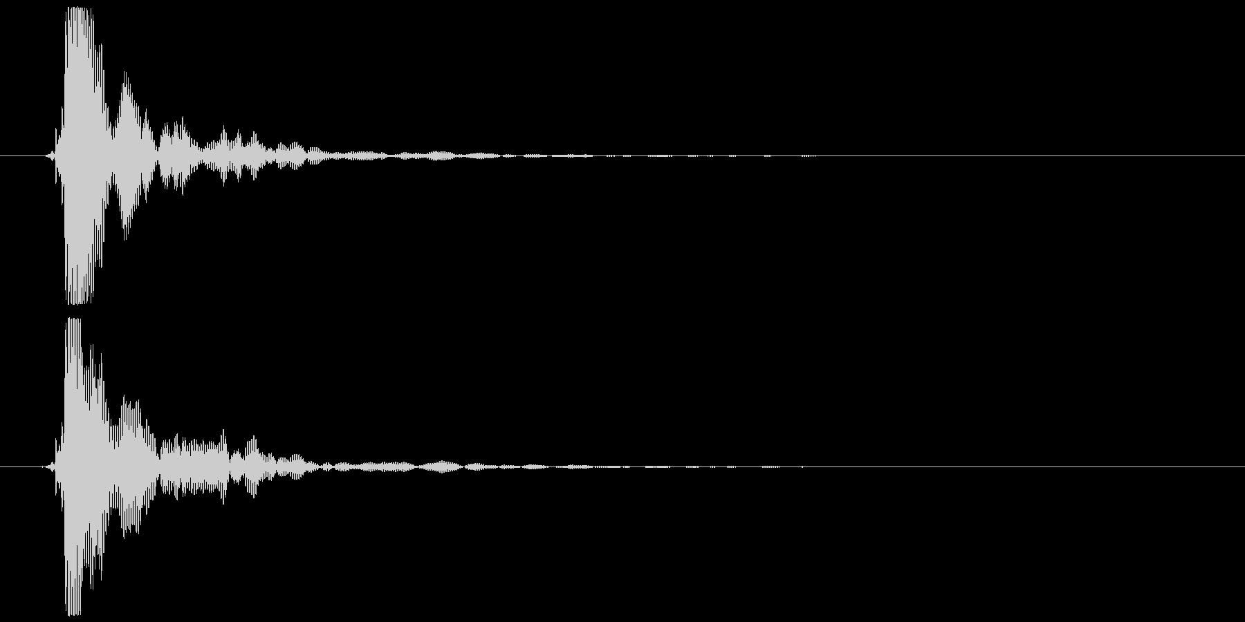 ポン (テロップ音、選択音風)②の未再生の波形