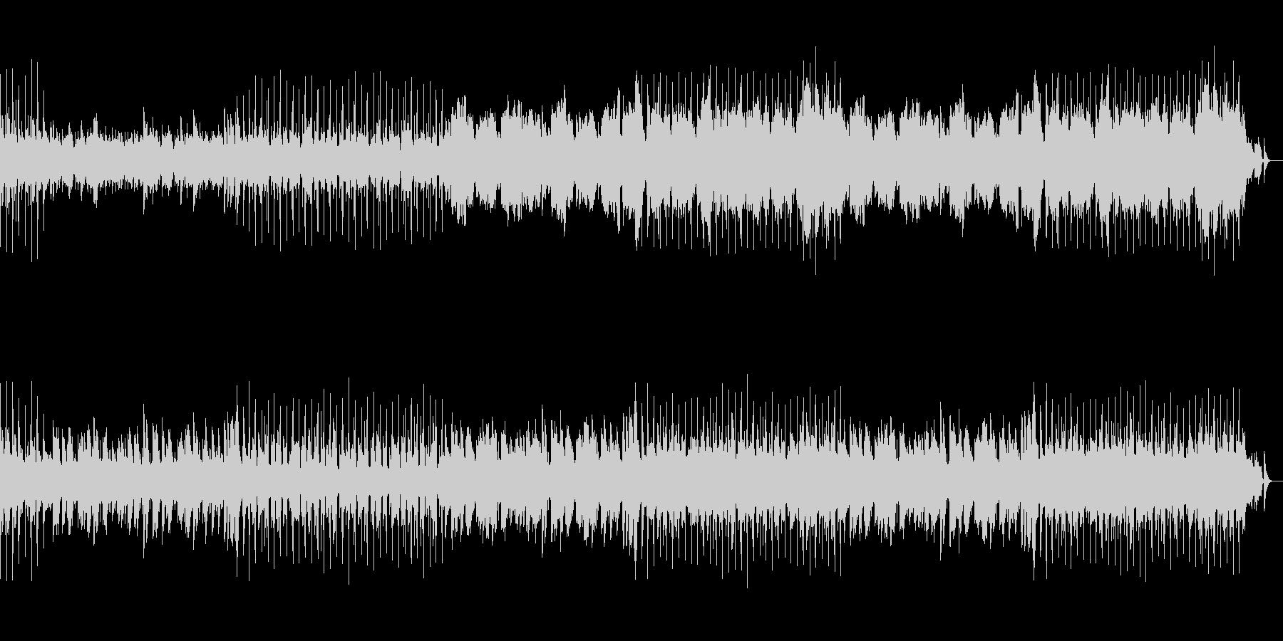 ウキウキとする明るくメロディアスピアノ曲の未再生の波形