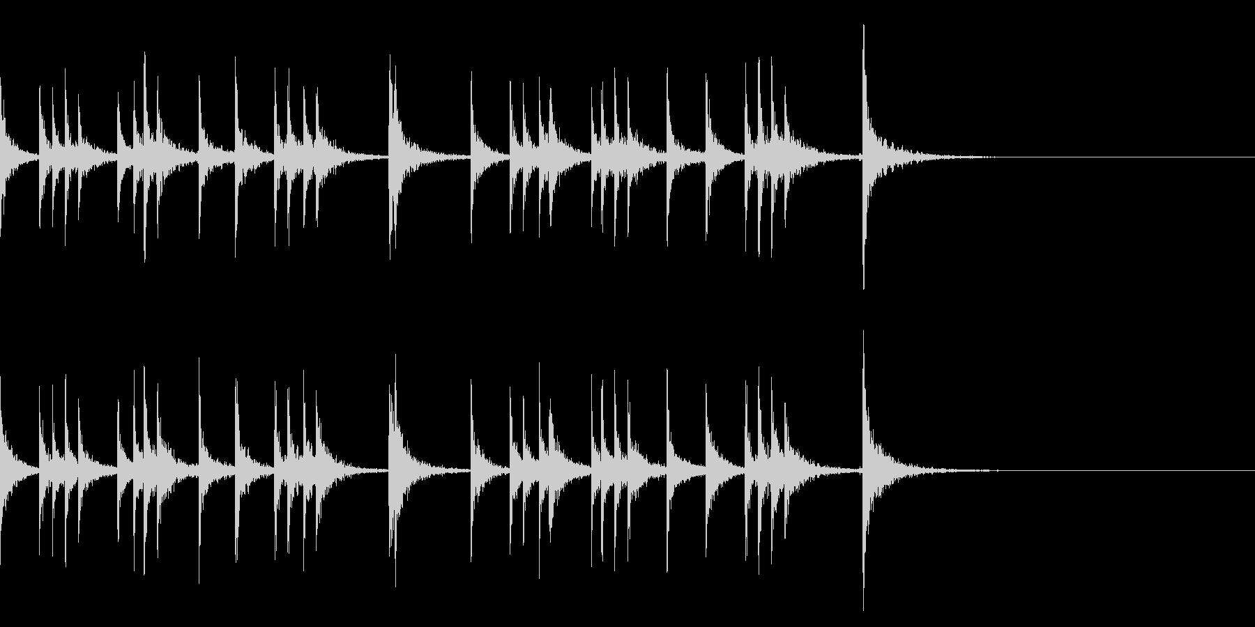 カスタネット!フレーズ3 エフェクト有の未再生の波形