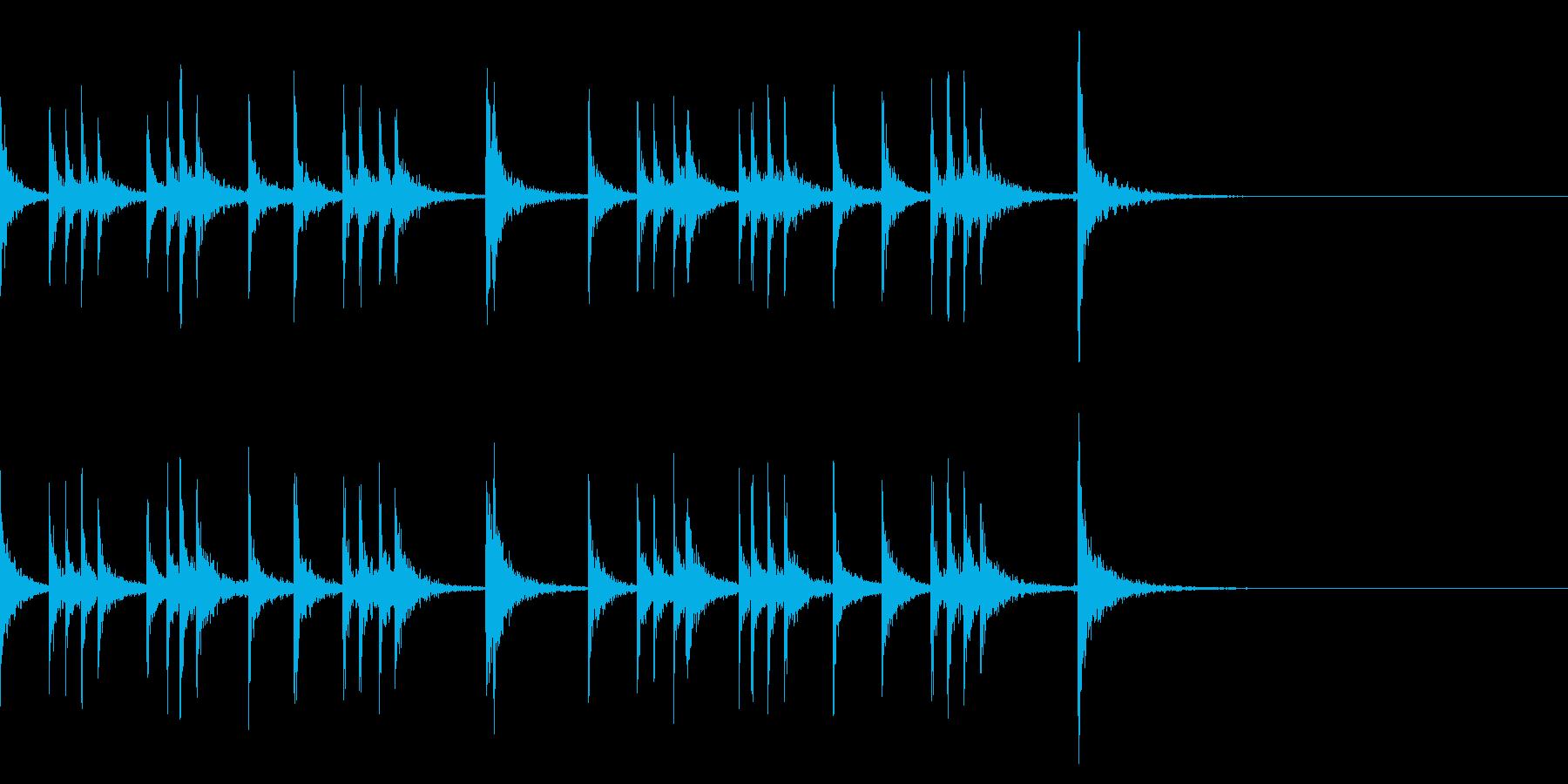 カスタネット!フレーズ3 エフェクト有の再生済みの波形