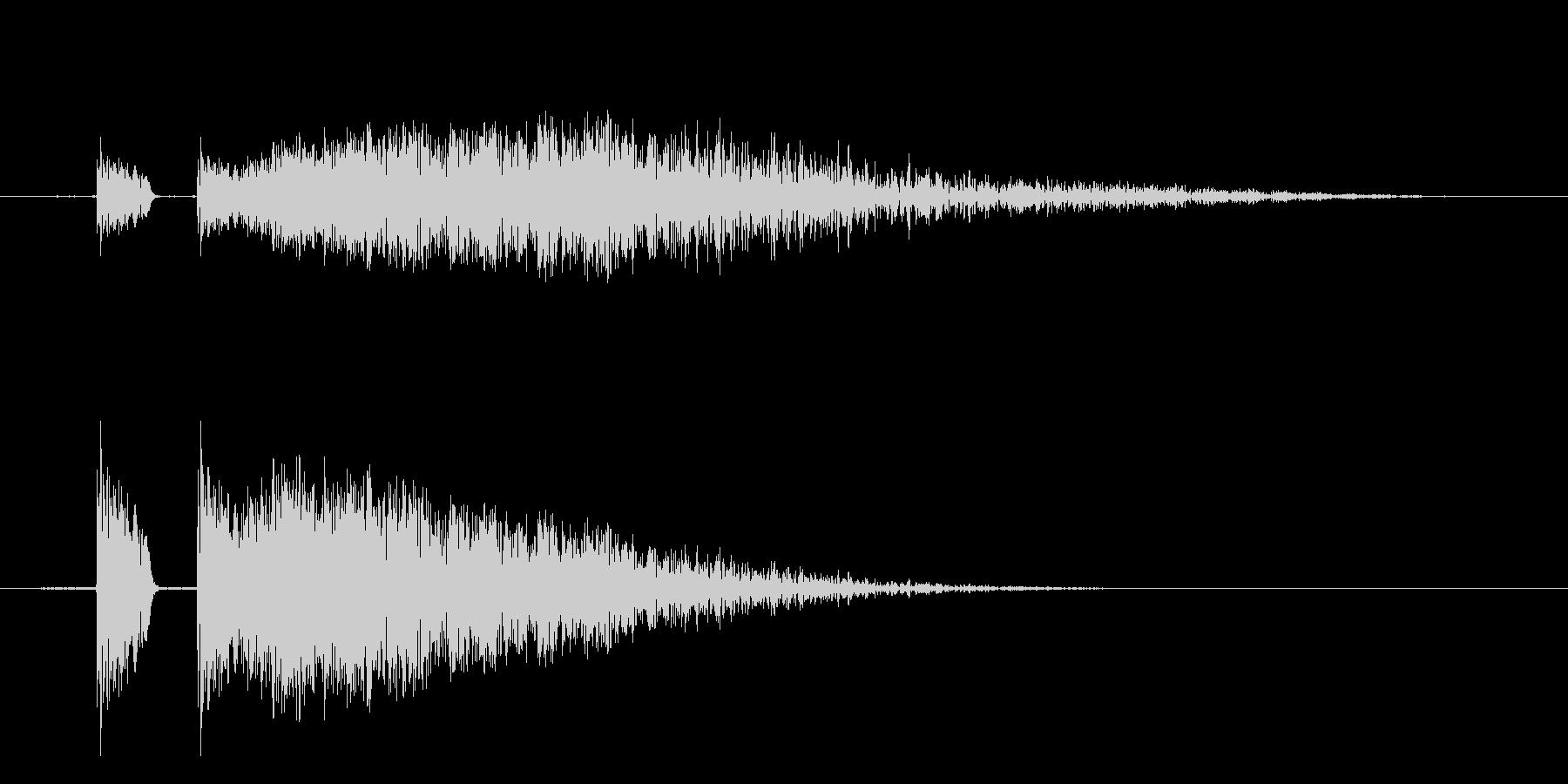 【ビシッ!】リアルなビンタに最適効果音!の未再生の波形