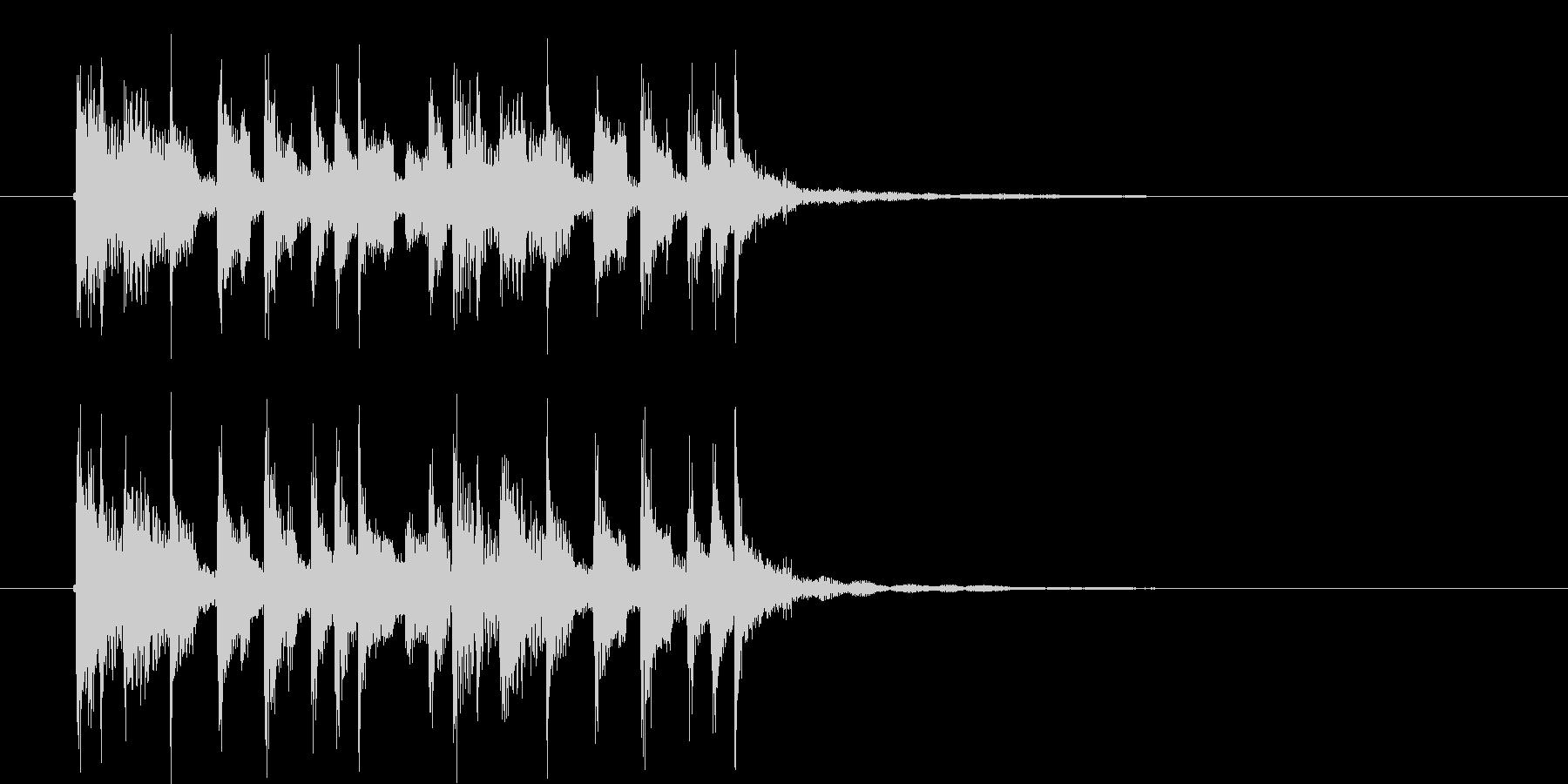 リズミカルで流暢なシンセジングルの未再生の波形