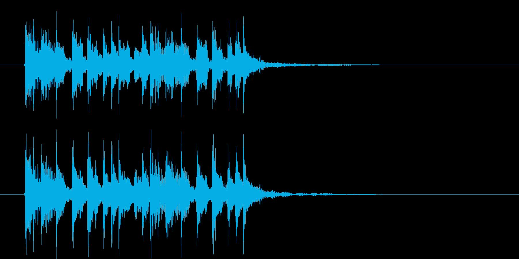 リズミカルで流暢なシンセジングルの再生済みの波形