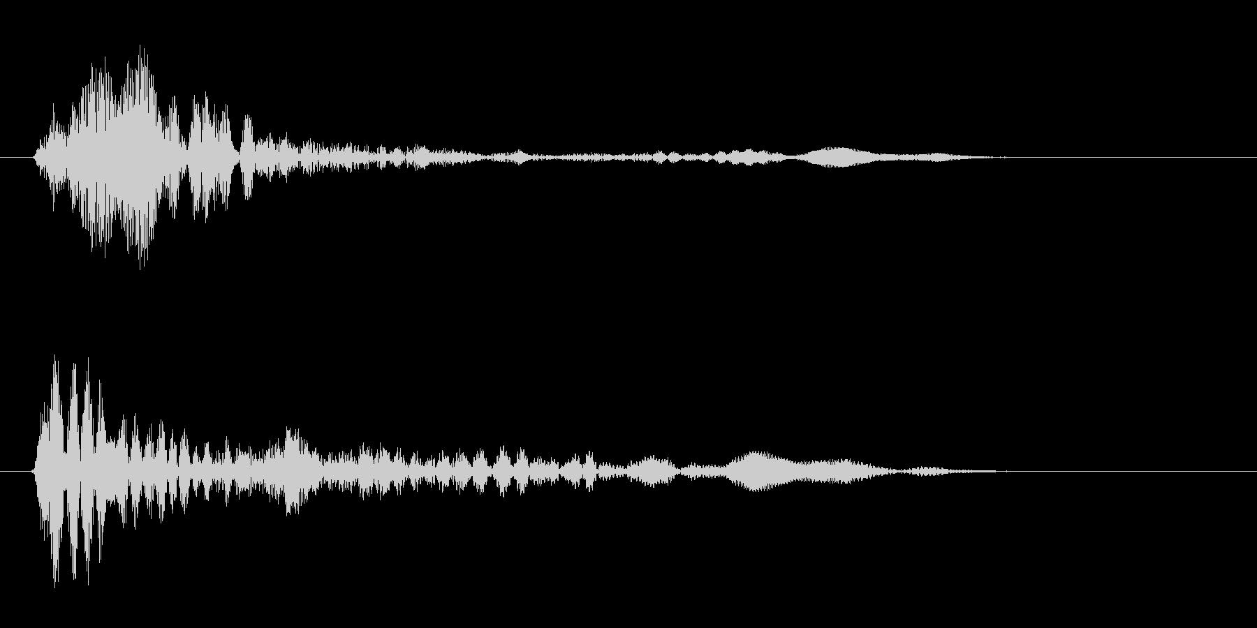 ポン(金属・電子音)の未再生の波形