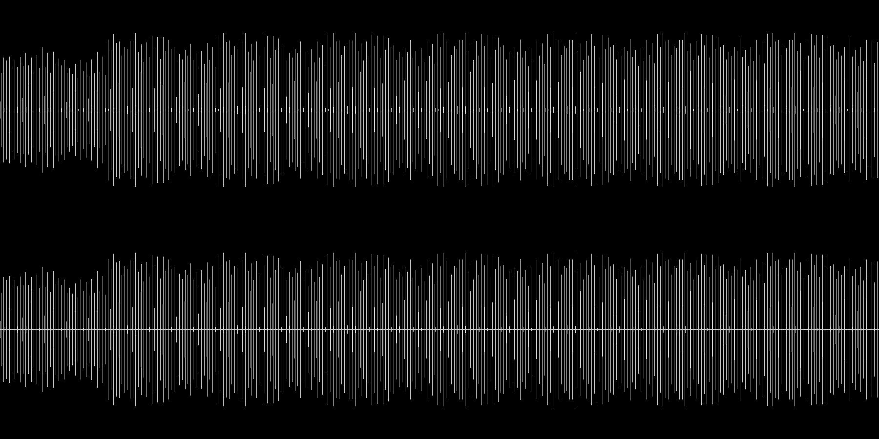 時計の音「チッチッチッチッチ・・・」の未再生の波形