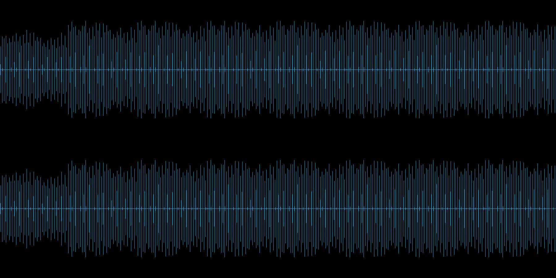時計の音「チッチッチッチッチ・・・」の再生済みの波形