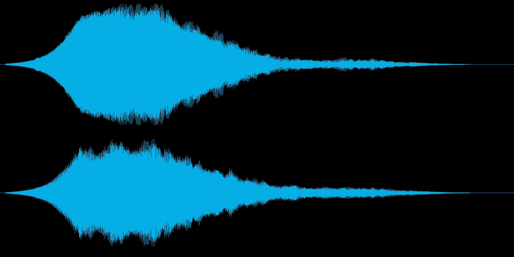 高いレの音がする警笛音の再生済みの波形