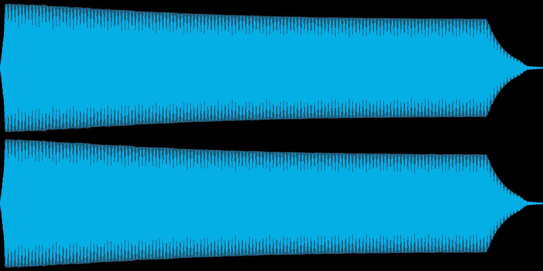 ポー。放送禁止・自主規制音(低・短)の再生済みの波形