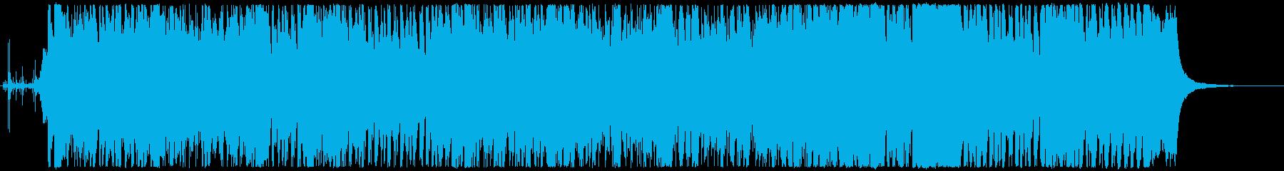 戦闘 追跡 逃走 緊迫した場面BGMの再生済みの波形