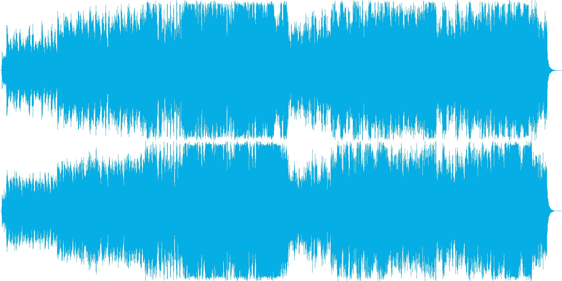 RPGのオープニングを想定した壮大な曲の再生済みの波形