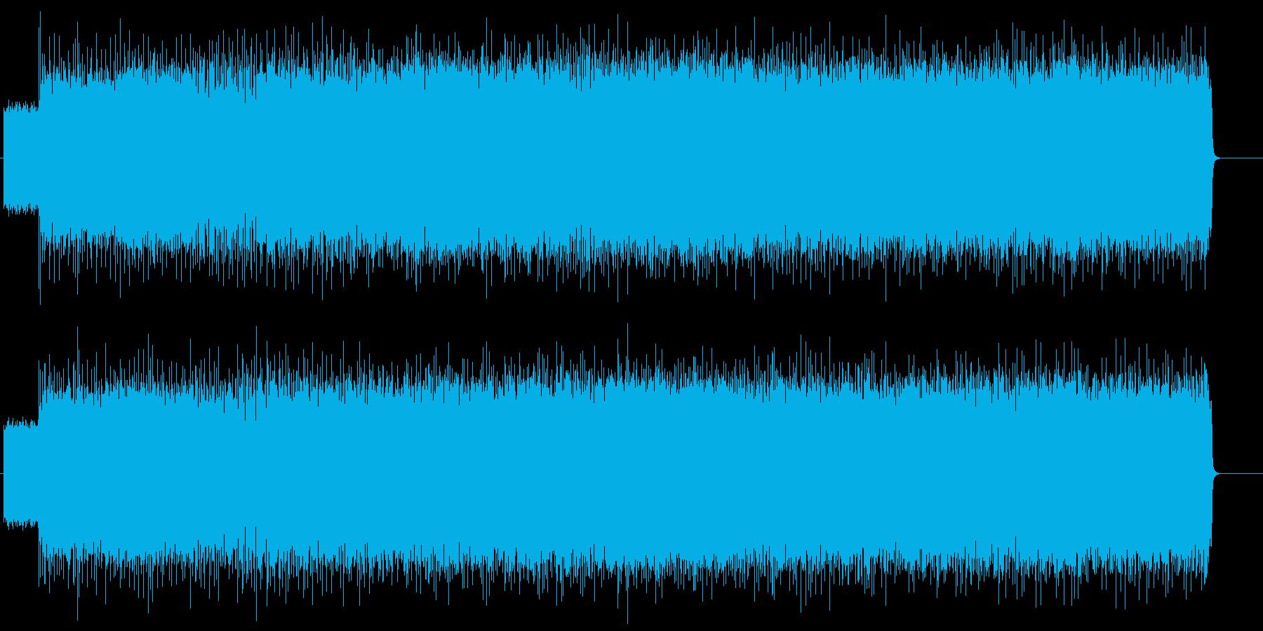 荒々しい勢いのマイナー・ロック/ハードの再生済みの波形