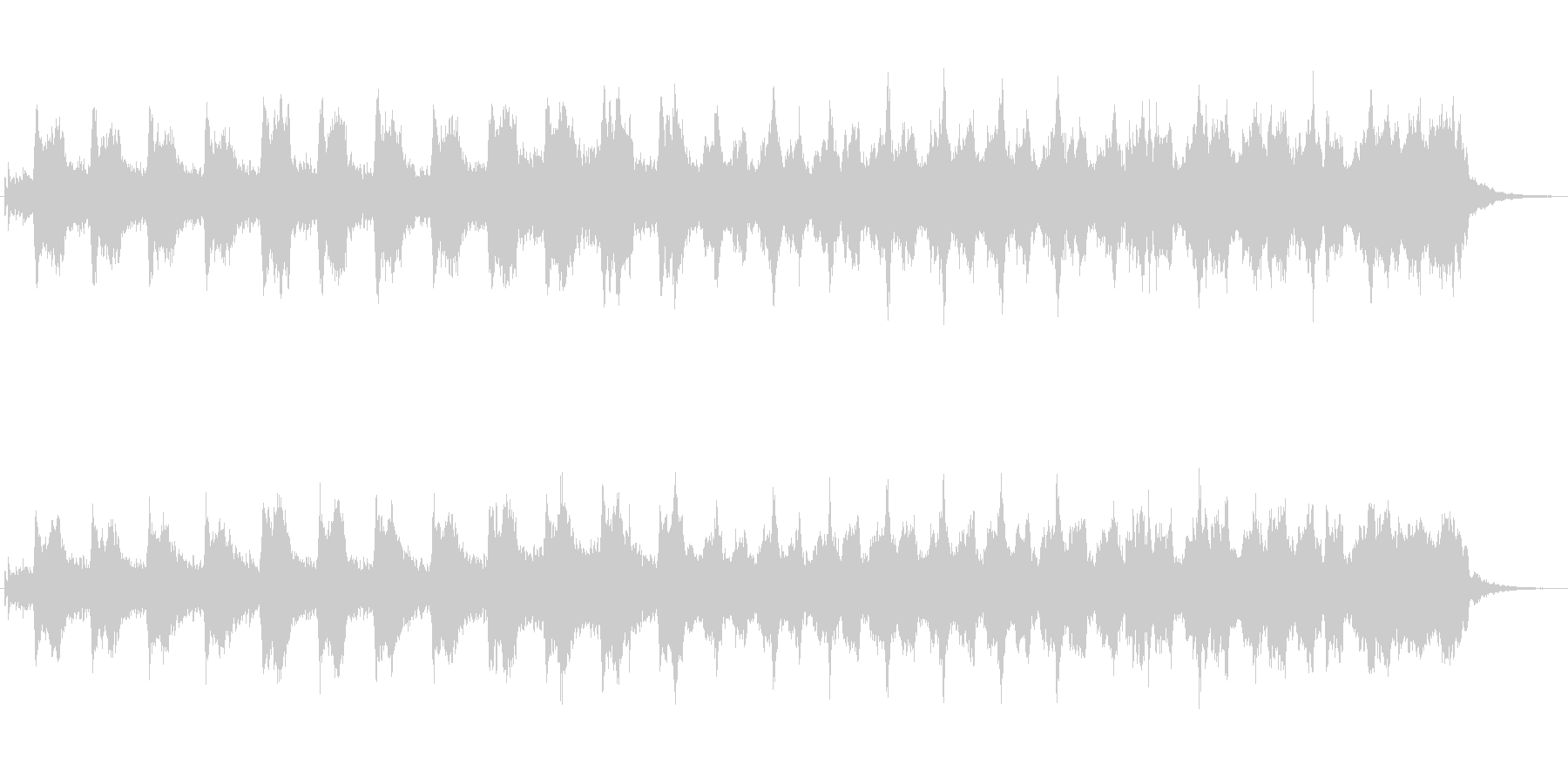 キラキラしたメルヘンチックなジングル6の未再生の波形