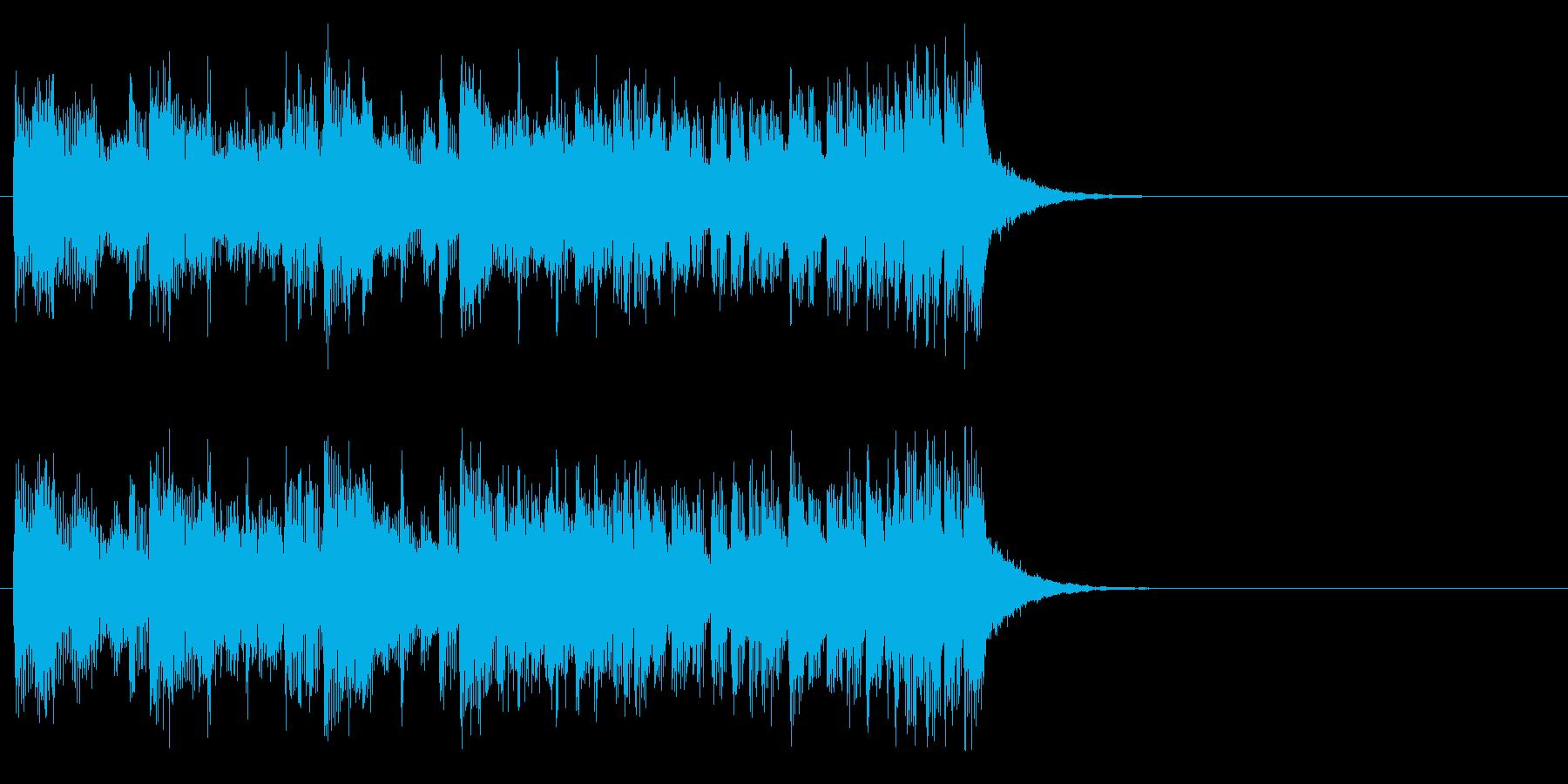 ジングル(爽やかポップス)の再生済みの波形