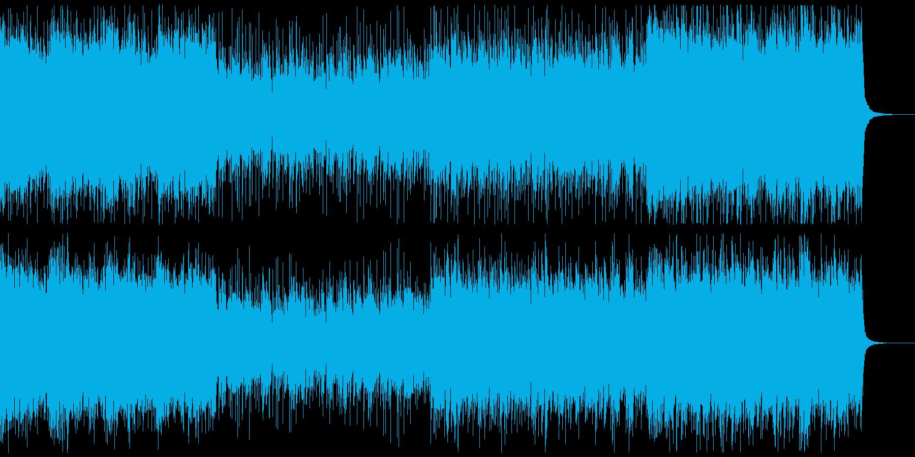 アイドルロック風、ゲーム、アニメverAの再生済みの波形