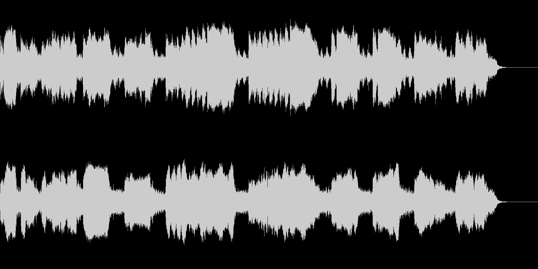ほのぼのしたフルートのシンプルで綺麗な曲の未再生の波形