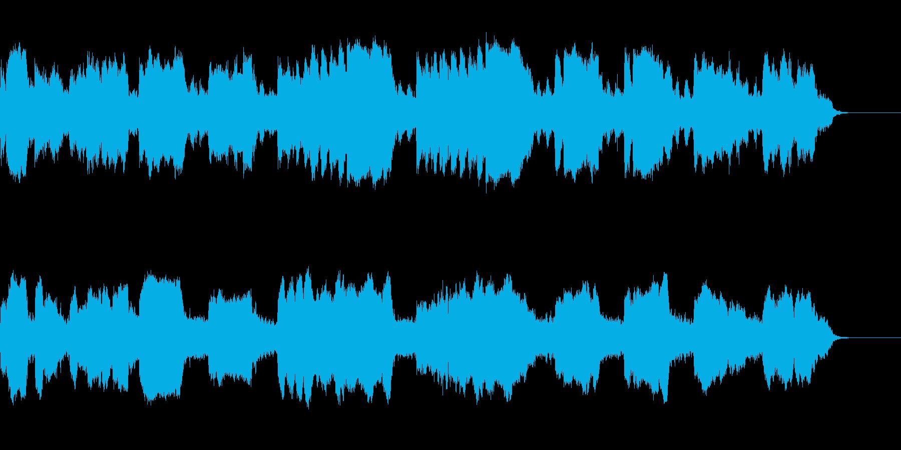ほのぼのしたフルートのシンプルで綺麗な曲の再生済みの波形