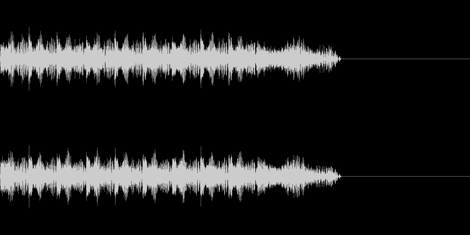 レーザービーム の未再生の波形