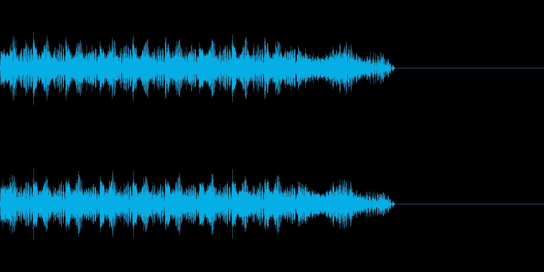 レーザービーム の再生済みの波形