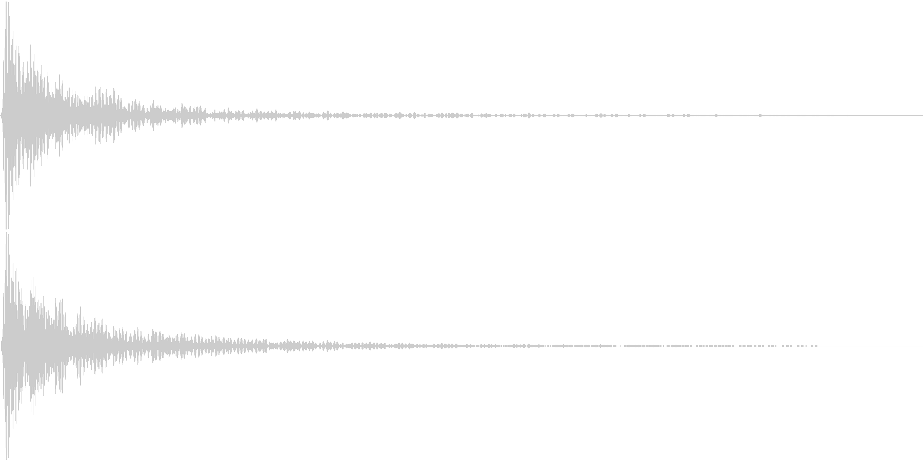 どんっ(太鼓と鈴の決定音)の未再生の波形