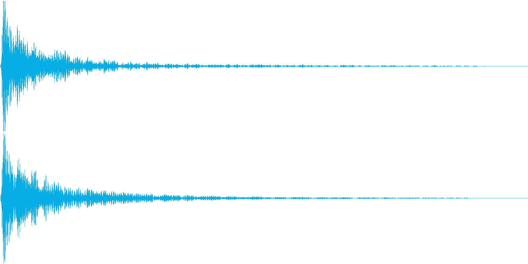 どんっ(太鼓と鈴の決定音)の再生済みの波形