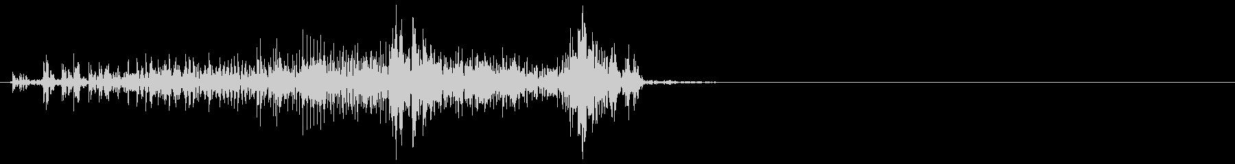 ジッパー、ファスナーを閉じる音2-1の未再生の波形