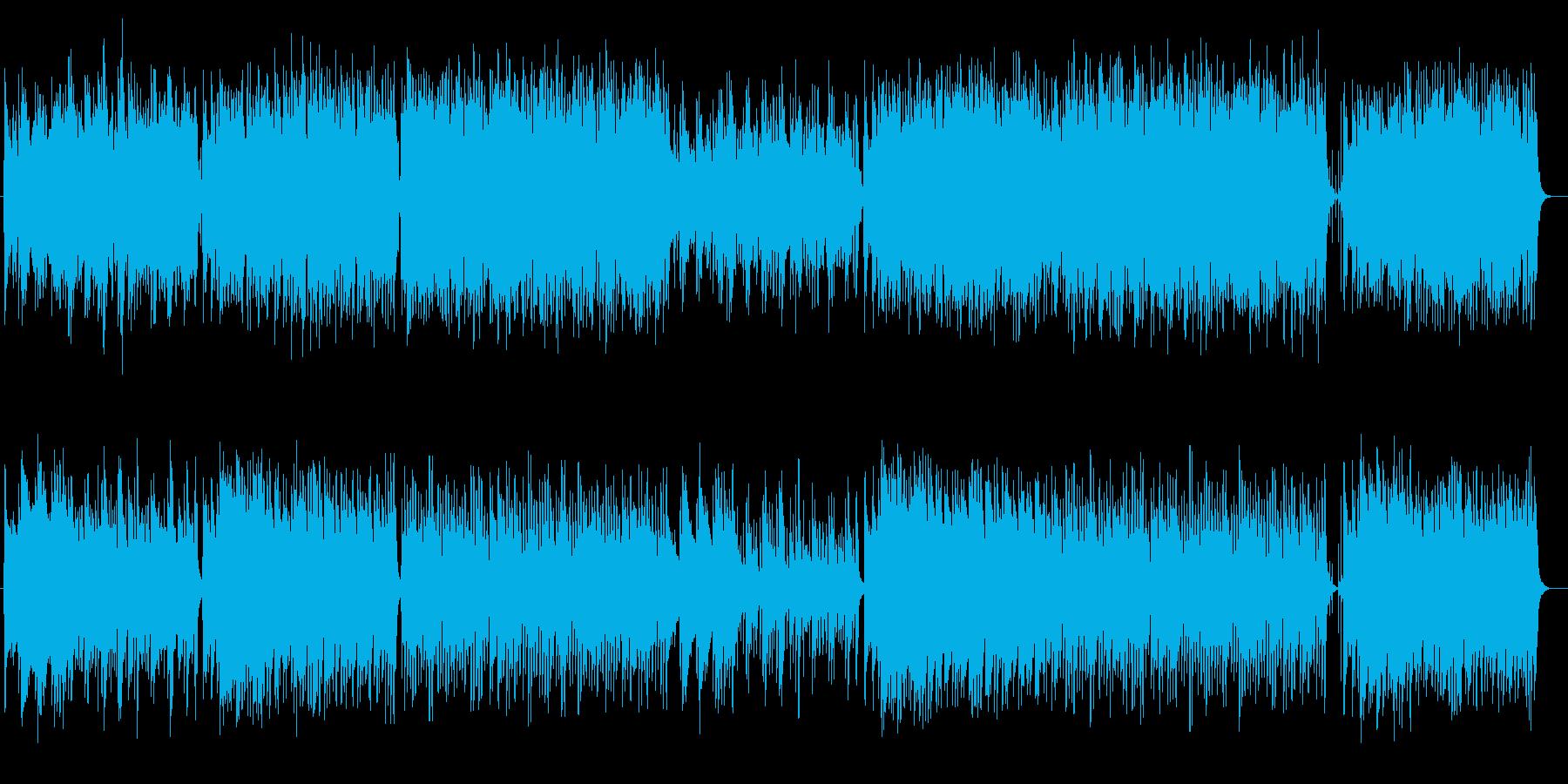 ゆったりほのぼのとしたリラクゼーション曲の再生済みの波形