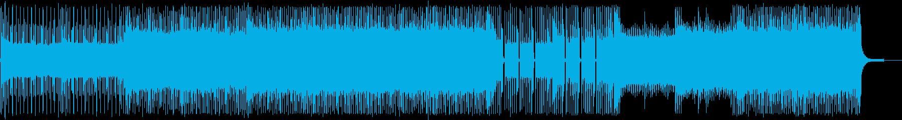 懐かしさを感じるゲーム用チップチューンの再生済みの波形