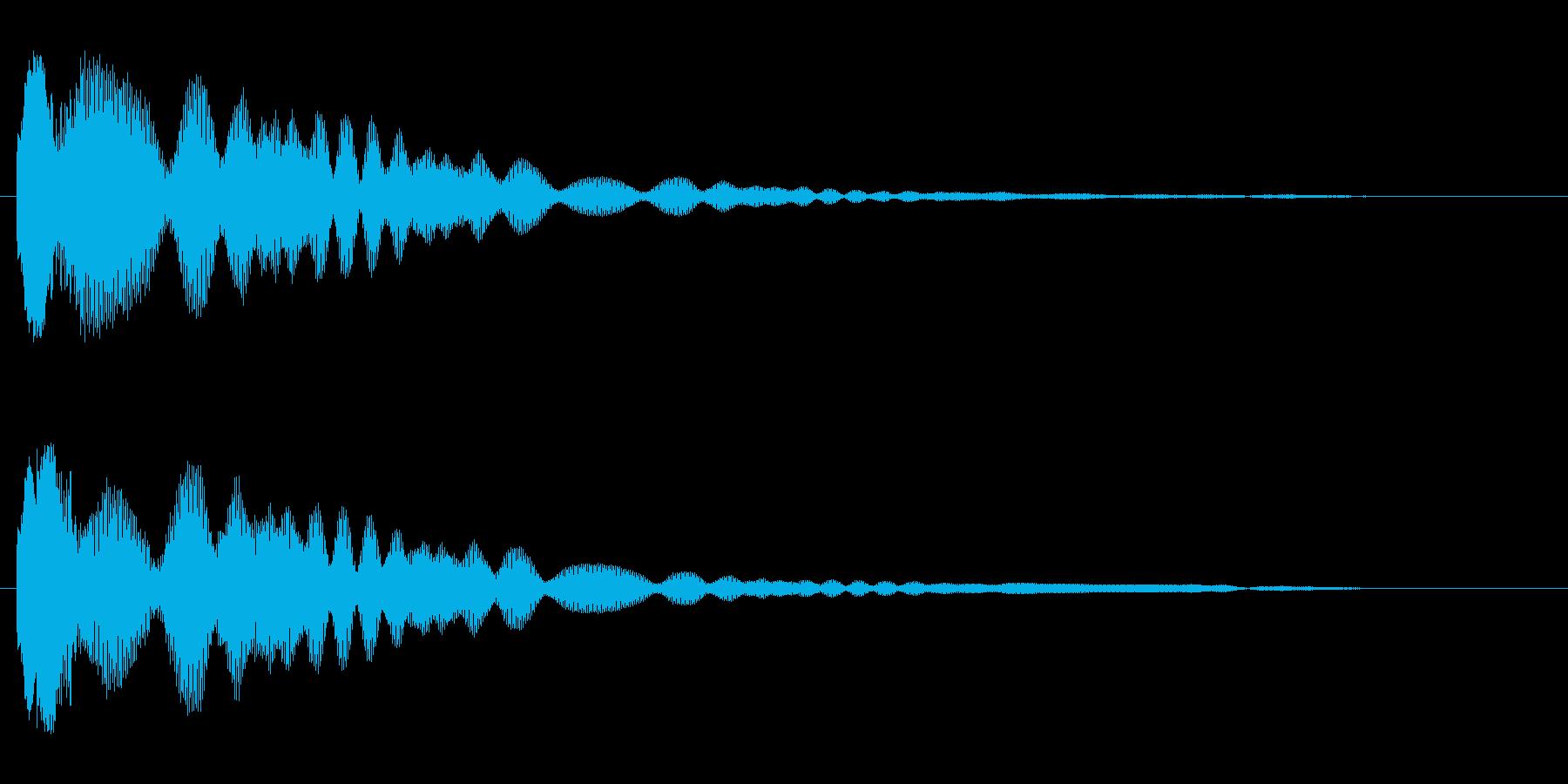 キラーン(短めの音)の再生済みの波形
