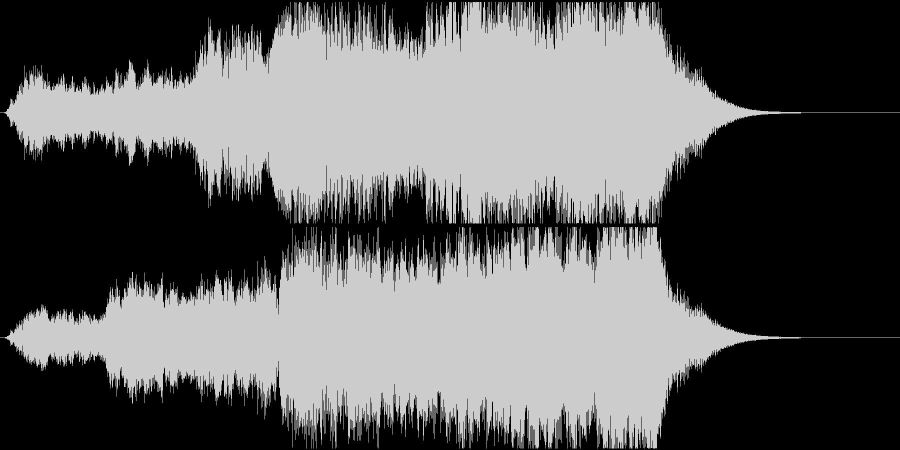 オープニングに合うファンファーレの未再生の波形