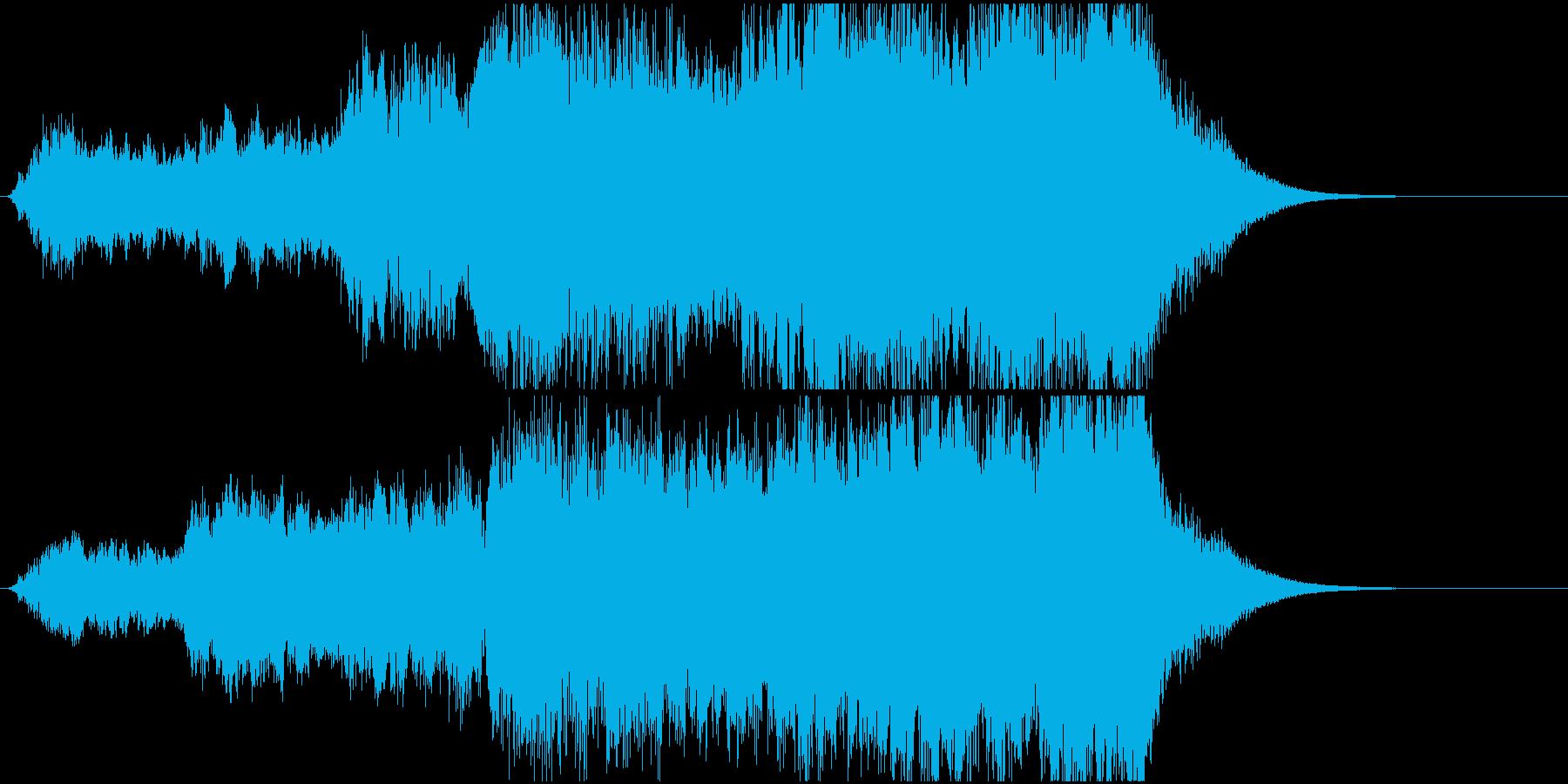 オープニングに合うファンファーレの再生済みの波形