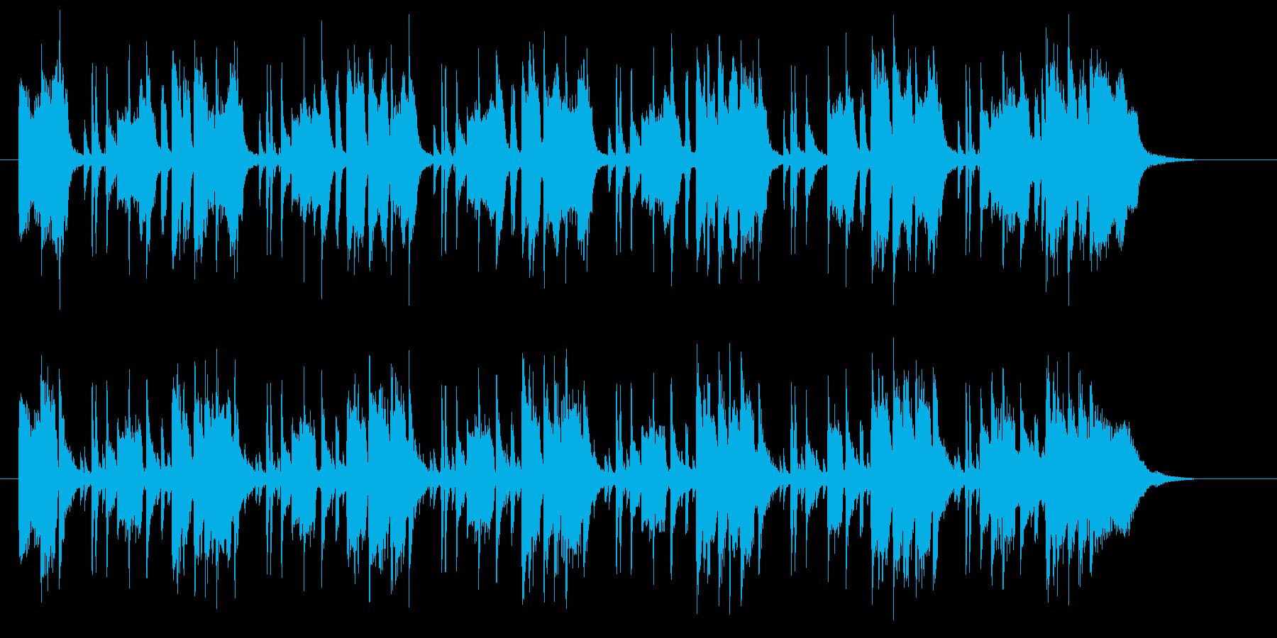 ミドルテンポの爽やかなファンクの再生済みの波形
