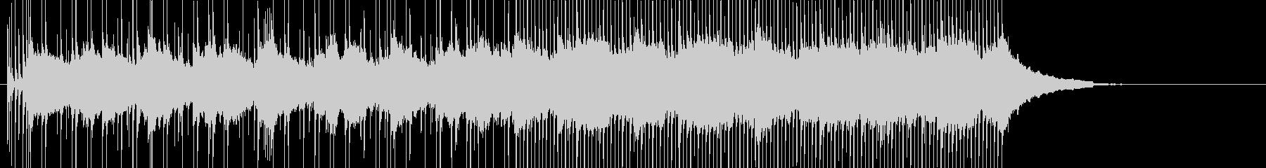 柔らかいバンドサウンドの田園広がるBGMの未再生の波形