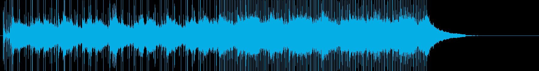 柔らかいバンドサウンドの田園広がるBGMの再生済みの波形