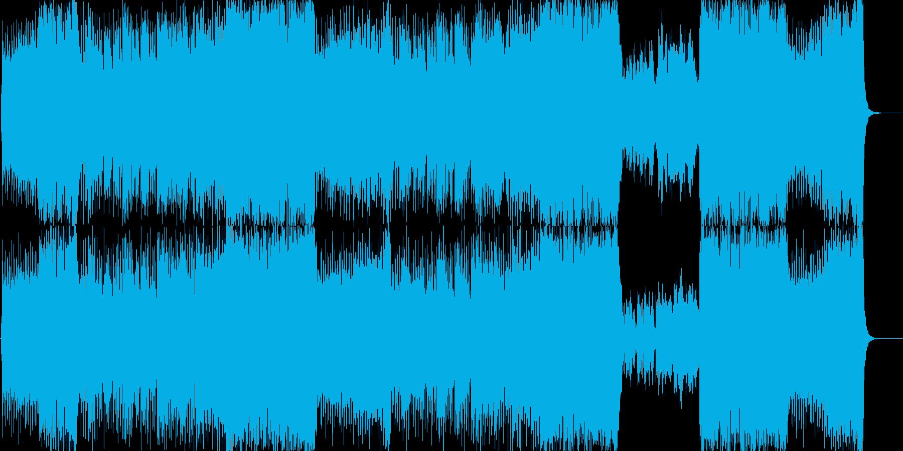 躍動感ある、和風ロックの歌ものの再生済みの波形
