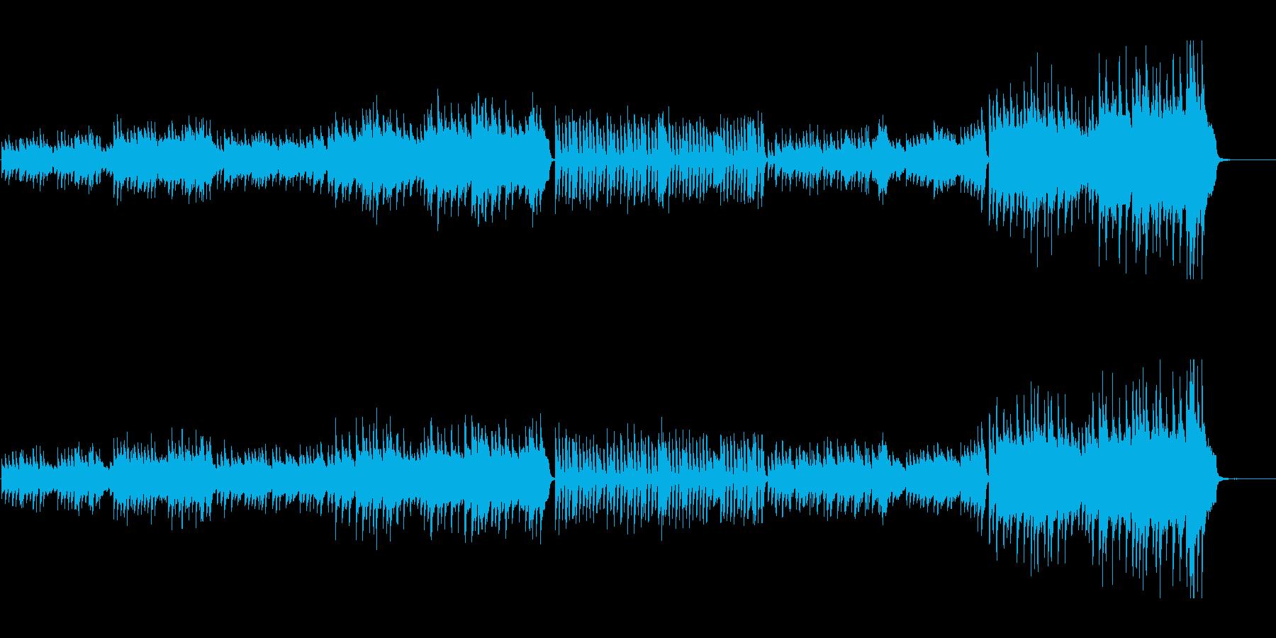 日本を感じさせる凛としたピアノ曲の再生済みの波形