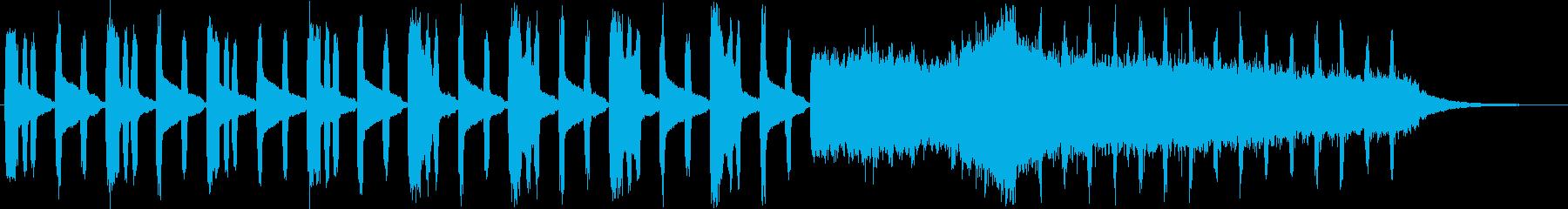 ファンタジーなオルガン・シンセサウンンドの再生済みの波形