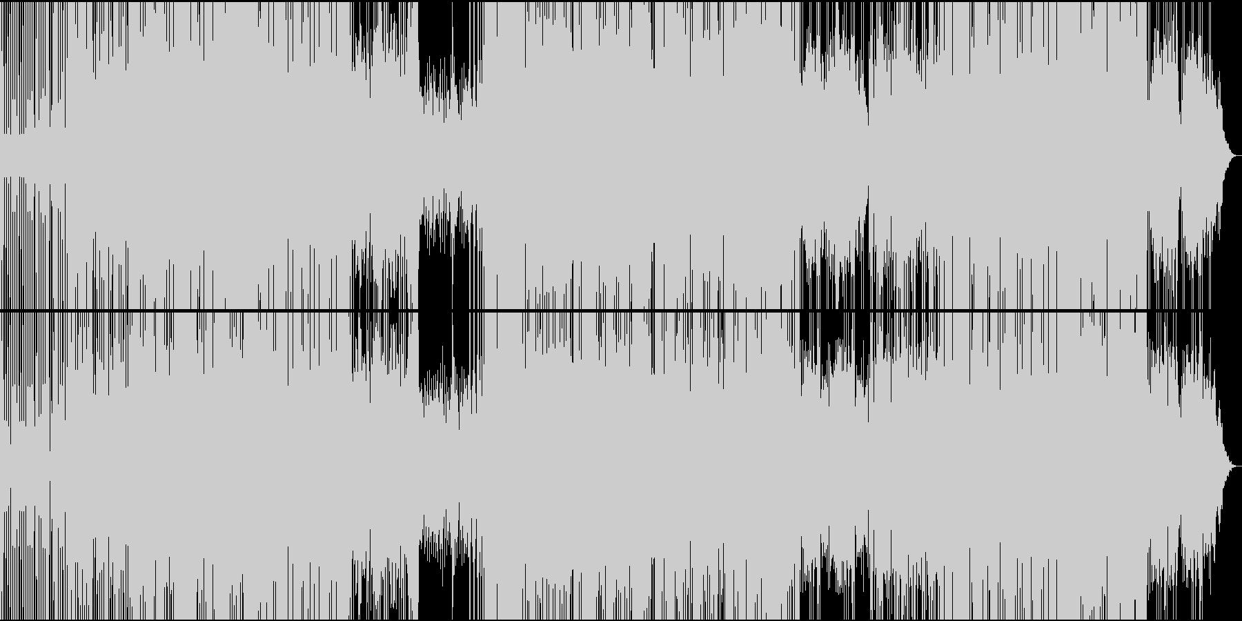 サイケデリックトランス系のBGMの未再生の波形