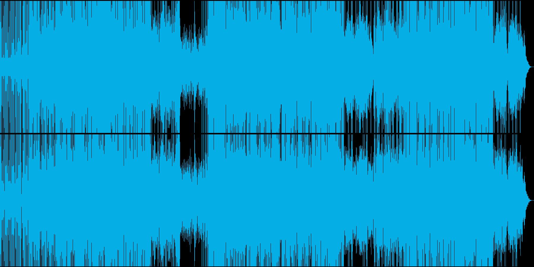 サイケデリックトランス系のBGMの再生済みの波形