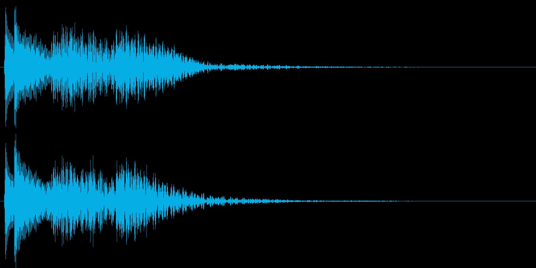 ボタン押下や決定音。ピロロン!の再生済みの波形