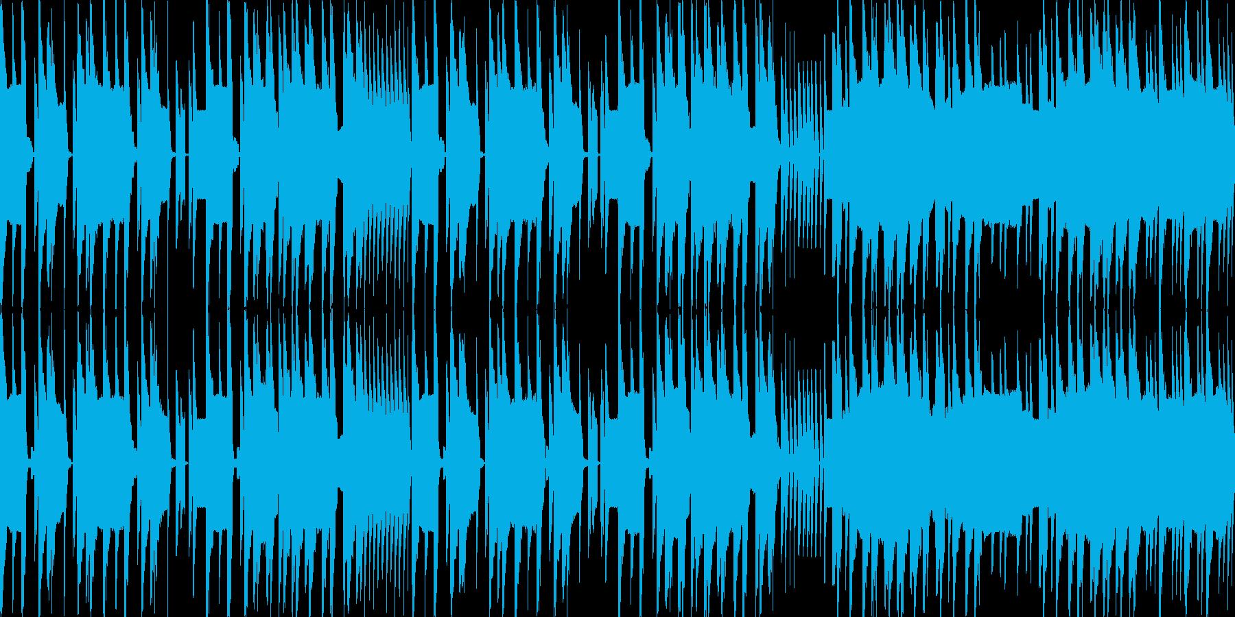 ループ素材リズミカルなファミコン風ジャズの再生済みの波形