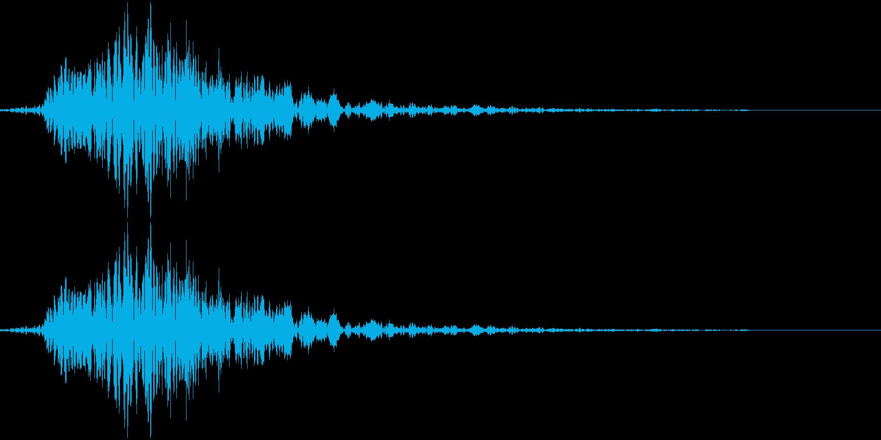 和風掛け声「はっ」(男複数)の再生済みの波形