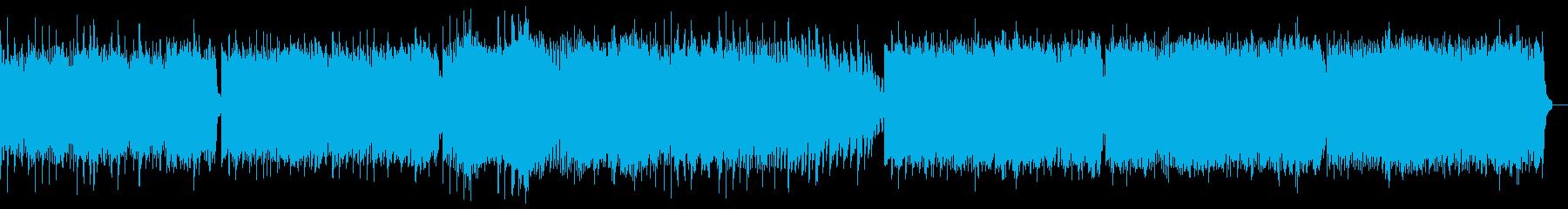 幻想的なリラクゼーションピアノBGMの再生済みの波形