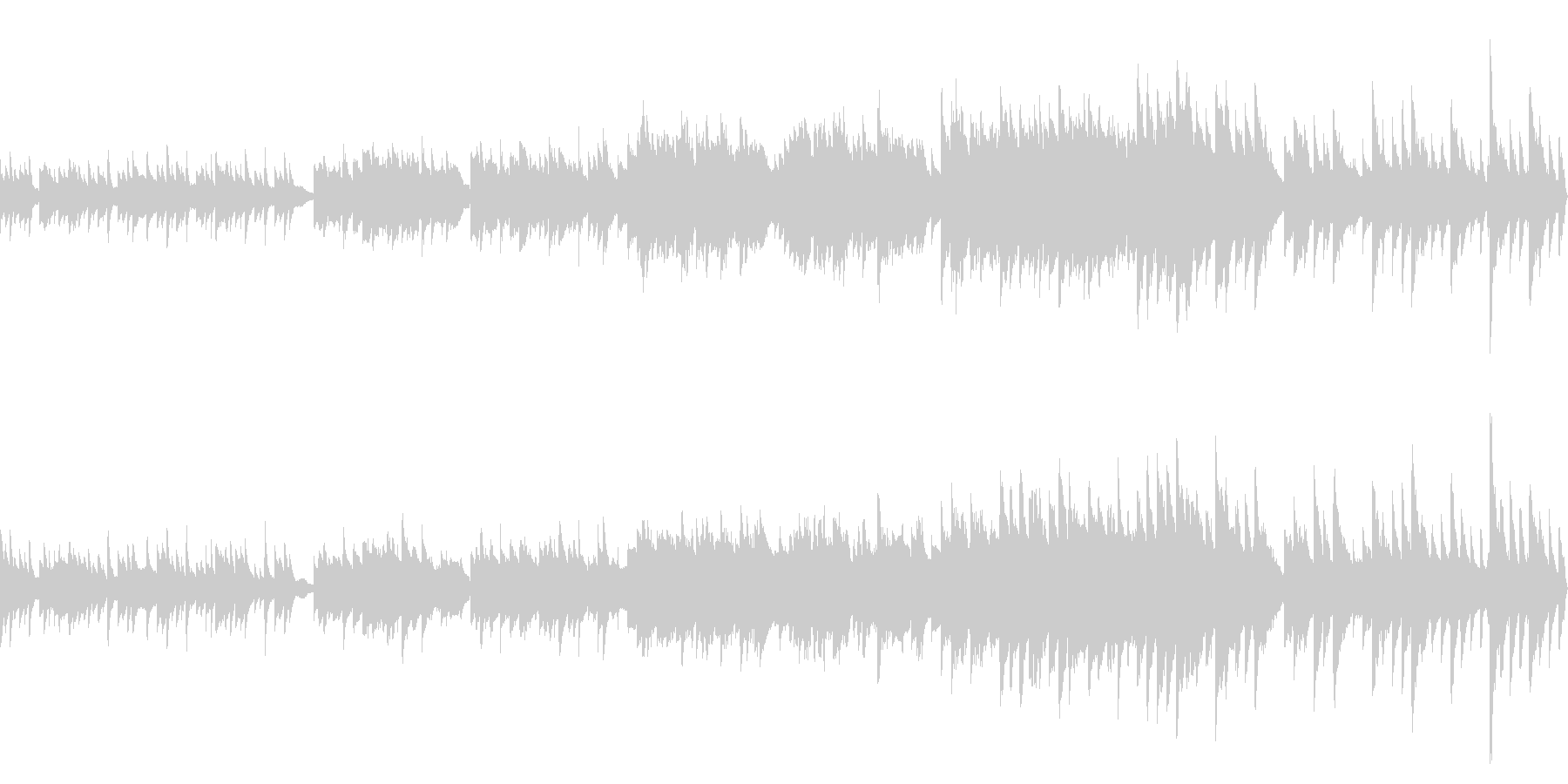 ノスタルジックな雰囲気の回想曲(ループ)の未再生の波形