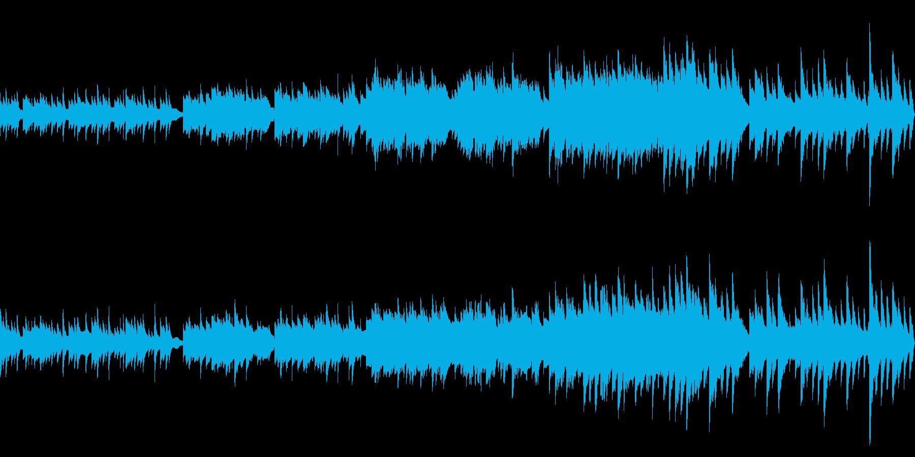 ノスタルジックな雰囲気の回想曲(ループ)の再生済みの波形