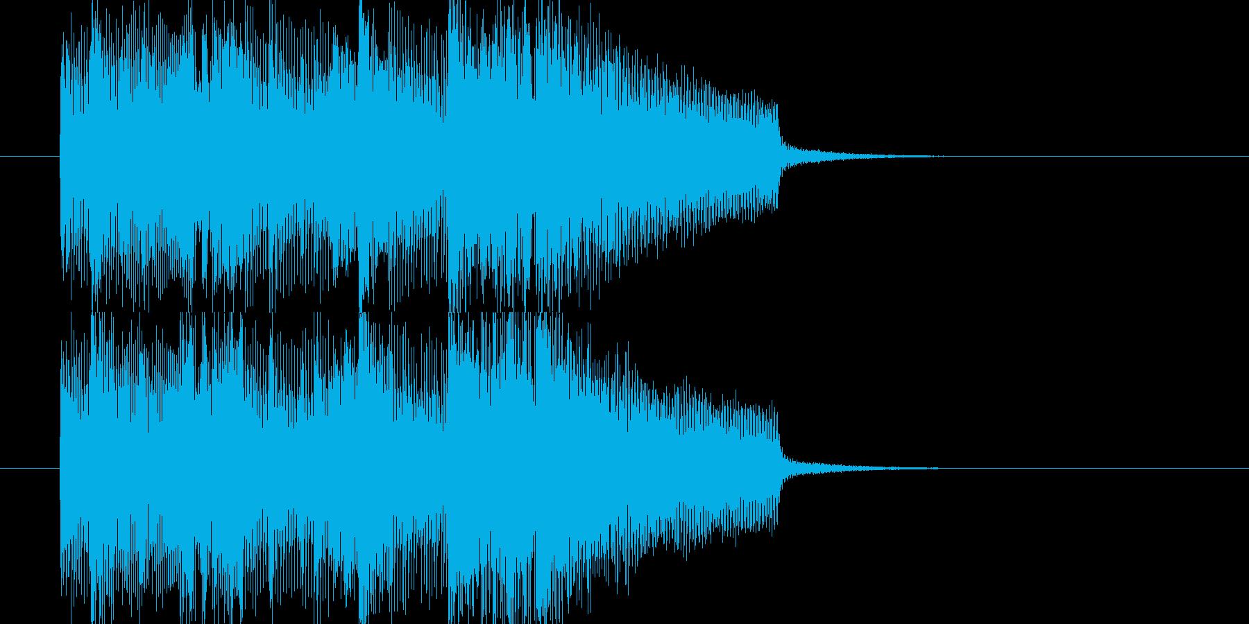 アップテンポでジャジーなジングルの再生済みの波形