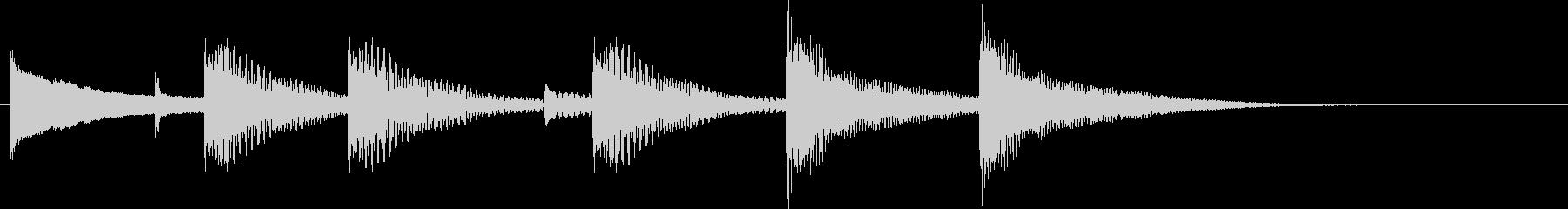 木琴のジングルの未再生の波形
